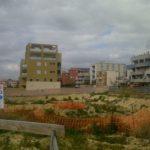 I nuovi edifici sul fronte di via Is Maglias